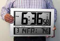 Digital Wall Mount Clock Large Time Modern Watch Battery Office Art Home Decor