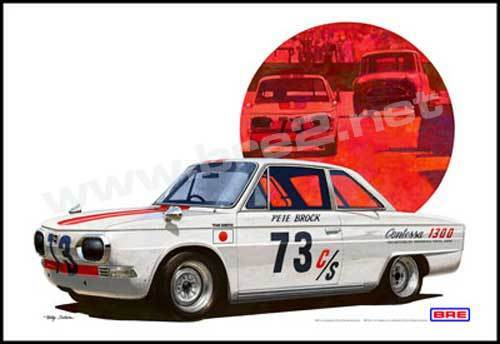 "1966 Hino Contessa Art Print  (19""x13"") sold by Peter Brock BRE!"