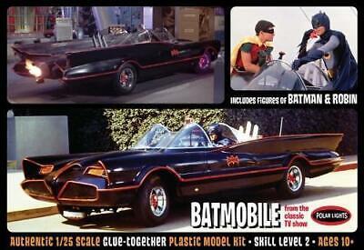 Batman 1966 Batmobil W / Batman und Robin Figuren Polar Lights 920 1/25 (Batman Und Robin Batmobil Spielzeug)