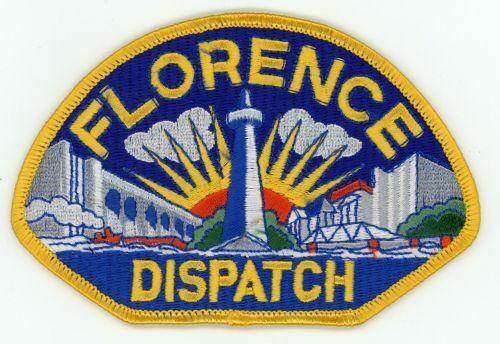 FLORENCE POLICE DISPATCH ALABAMA AL COLORFUL PATCH SHERIFF