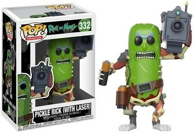 FUNKO POP! ANIMATION: Rick & Morty - Pickle Rick w/Laser [New Toy] Vinyl Figur