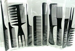 NEW 10 PIECE COMB SET-PROFESSIONAL HAIRDRESSING/STYLING BARBERS/COMB SET