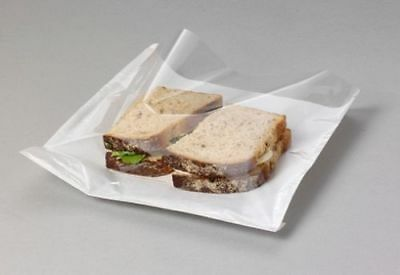 100 x FILM-FRONT-CELLOPHANE-PAPER-CLEAR-WINDOW-SANDWICH-BAGS-FOOD-CARD 8.5x8.5