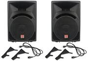 Powered DJ Speakers Pair