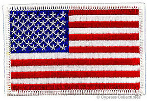AMERICAN-FLAG-EMBROIDERED-PATCH-iron-on-WHITE-BORDER-US-UNITED-STATES-SHOULDER