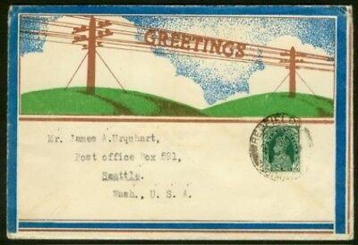 India 1940 Multicolored Telegram Greetings Cover