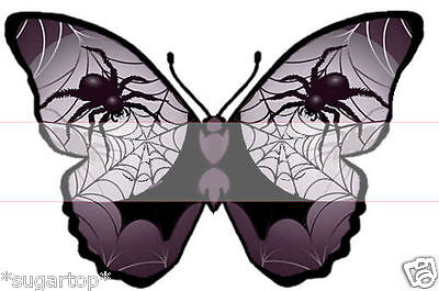 Web Butterflies STUNNING Effective Edible Cup Cake Toppers  (Halloween Cupcakes Spider Web)