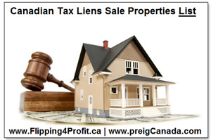 Canadian Tax Liens Properties List for Fraser Investors