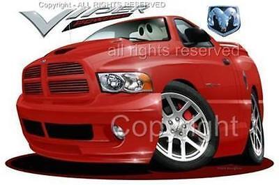 Dodge Ram Viper SRT-10 Pickup Truck T-Shirt (Dodge Viper Srt 10 Truck)