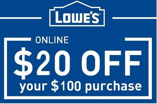 Lowes $20 off $100 - Coupon-Code - expires 12/27/17