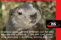 ROOF/SIDING NEEDS? CALL HOT SHOT Roofing & Siding 204.654.2245