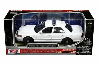 Motor Max 1/24 2010 Ford Crown Victoria Police Interceptor Diecast Car 76469