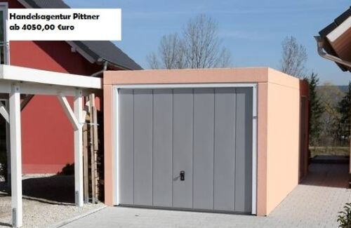 Massive Qualitäts Fertiggarage aus Beton mit Schwingtor **Made in Germany**
