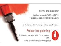 Painter and decorator in West Sussex for hire