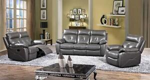 ???3PC HIGH END LEATHER RECLINER SET$2699???