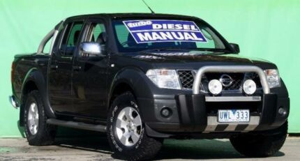 2007 Nissan Navara D40 ST-X Grey 6 Speed Manual Utility Ringwood East Maroondah Area Preview