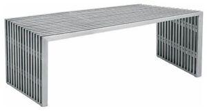 Steel Bench, banc, mode, designer, industrial, maison, moderne.