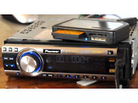 PIONEER CAR AUDIO HEAD UNIT DVD PLAYER MP3 WMA WITH WIRE---