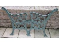 CAST IRON GARDEN SEAT ENDS £30.ono. TEL> 01274 602625 A PAIR of Cast Iron Garden Seat ENDS