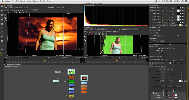 Natron Video Compositing Green Screen Software for Windows and Mac
