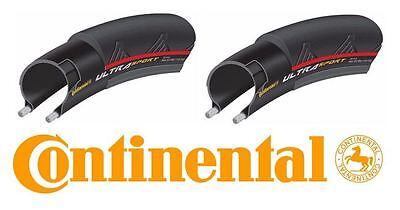 Continental Ultra Sport II Folding Bike Tire Pair Red 700x25c