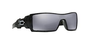 f28d0d1e3 LOOK Oakley Oil Rig Sunglasses Polished Black Bd5889 50 15-132 W/ Bag Case