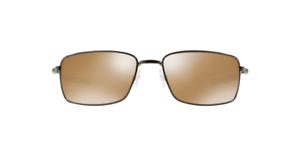 732e675871 Oakley Square Wire Oo4075 Polarized Iridium Rectangular Sunglasses Tungsten