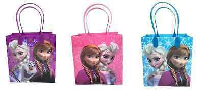 Frozen Party Favor Bags Anna Elsa Olaf Goodie Candy Loot Gifts (12 PACK) - Frozen Goodie Bags