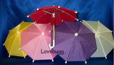 "Lovvbugg Yellow Umbrella for 18"" American Girl Doll Accessory"