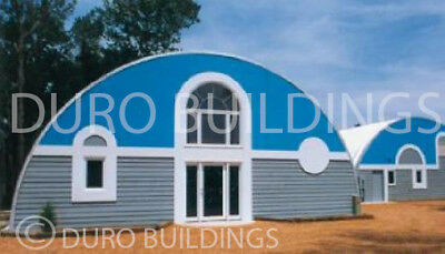 Durospan Steel 30x33x14 Metal Quonset Diy Home Building Kit Open Ends Direct