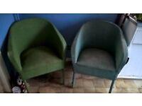 Lloyd Loom Chairs x 2