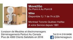 Déménageurs #1 sur Kijiji ((514) 316-9496) - Mike, Dan, Dave et Pierre - A Votre Service 8h-22h - Estimation Gratuite -