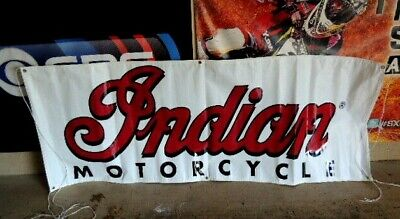 vintage Gliroy California indian motorcycle banner ~ NEW