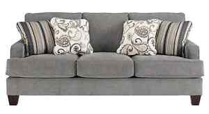 Yvette Steel 3-seat Sofa/Couch