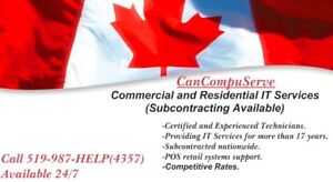 Commercial and Residential IT Services(Subcontracting Available)
