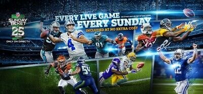 NFL Sunday Ticket MAX FULL 2020-2021 Season - Fast Delivery + Warranty