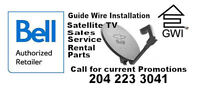 "Bell Satellite TV, 20""Dish+1 HDPVR+2 SD Receiver+install= N/C"
