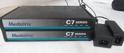 1x Mediatrix C7 Phone Analog Gateway Switch Box Series Model C Media5 Ata Voip