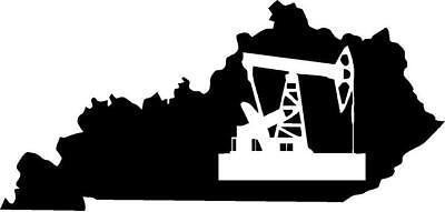 Kentucky Silhouette w/ pump jack vinyl decal/sticker KY oilfield pipeline ()
