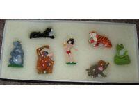 Rare mettalic Jungle book 7 figurine set