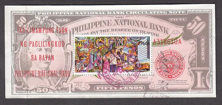 USED PHILIPPINES C93 IMPERFORATE SOUVENIR SHEET CV 4.25 - $0.99