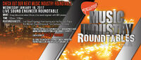 Music Industry Roundtables - Live Sound Engineer: THIS WEDNESDAY