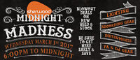 Sherwood's Annual Midnight Madness Sale