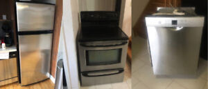 Stainless steel fridge,stove,dishwasher for sale*