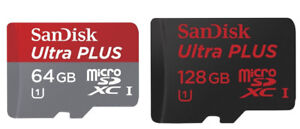 BRAND NEW Sandisk ULTRA plus 64GB and 128 GB micro SD XC on sale