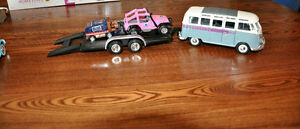Diecast Collector Volkswagon Van with Flatbed Trailer