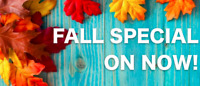 Fall Special on Now!