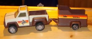 VINTAGE  1979  TONKA  PICKUP  TRUCK AND  HORSE  TRAILER
