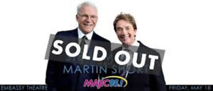 Steve Martin with Martin Short ***HARD COPY TIX***