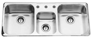 Stainless Steel Triple Bowl Kitchen Sink  (Just Like New)